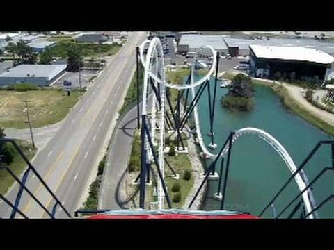 Time Machine Front Row Seat on-ride widescreen POV Freestyle Music Park