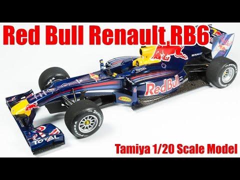 Red Bull Racing Renault RB6 Formula 1 Car (Tamiya 1/20 Scale Model)