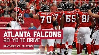 Falcons Drive 98 Yards Down the Field for a TD! | Panthers vs. Falcons | NFL