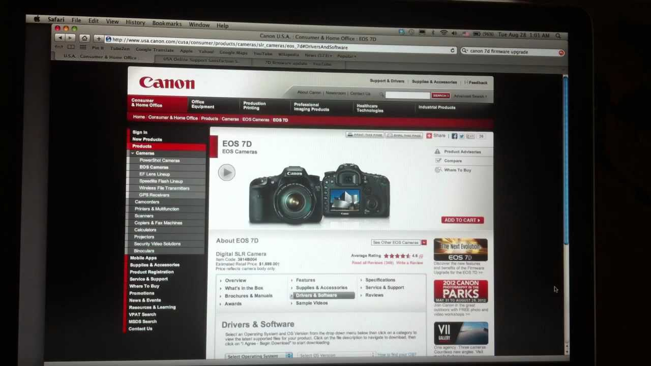 Firmware update: canon eos 7d mark ii v1. 1. 1 | nature ttl.
