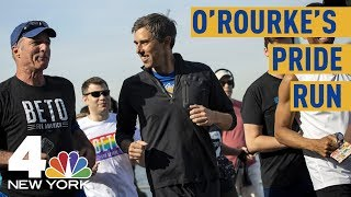Beto O'Rourke Holds Pride Run, Unveils LGBTQ Rights Plan in NYC | NBC New York