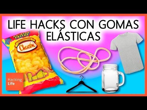 Top 5 LIFE HACKS con GOMAS ELASTICAS 📌 Trucos fáciles en Hacking Life
