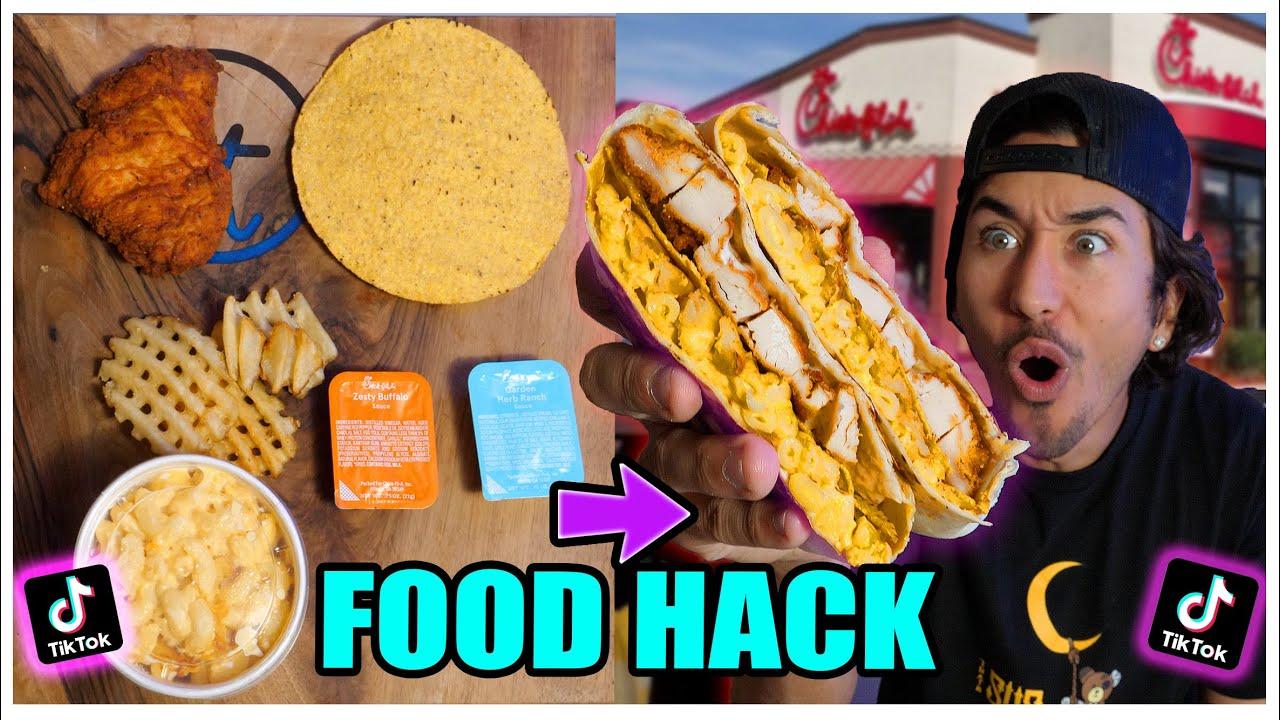 We TASTED Viral TikTok Cooking Life Hacks... (CHICK-FIL-A CRUNCHWRAP SUPREME?) *Part 17*