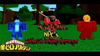 come uccidere i nuovi npc senza infliggere danni boku non roblox rimasterizzato