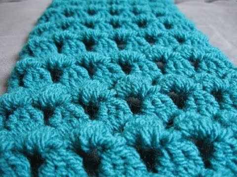 Crochet Scarf - Granny Tears Scarf Tutorial - YouTube