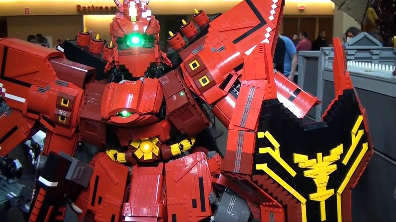 Giant Lego Gundam Msn 04 Sazabi Mech Youtube