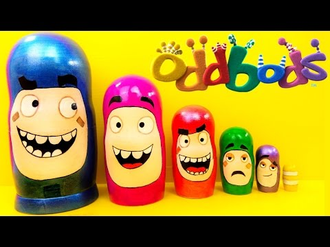 Oddbods Surprise Toys Nesting Dolls Oddbod toys video, Kids Stacking Cups Kinder Surprise Toys