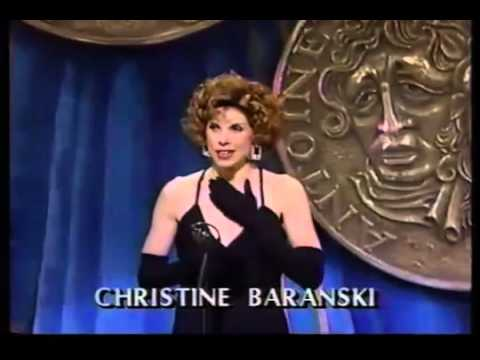 Christine Baranski wins 1989 Tony Award for Best Featured Actress in a Play