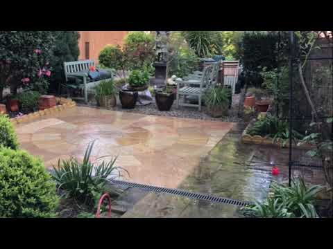 cleaning Indian sandstone patio in Belsize Park nw3 patio steam cleaning