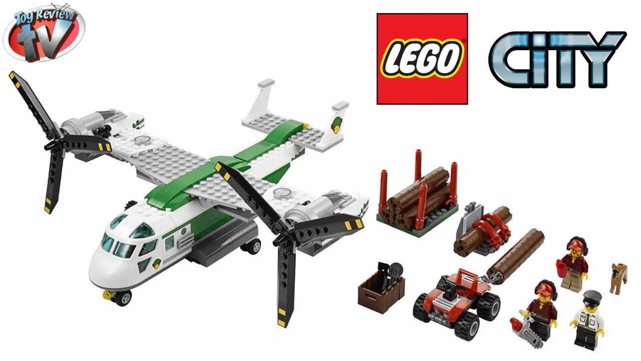 LEGO City Cargo Heliplane 60021 Toy Review - YouTube