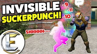 Sucker Punch People In An Invisibility Cloak - Gmod DarkRP Trolling (Police Chase!)