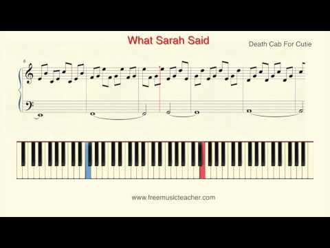 "How To Play Piano: Death Cab For Cutie ""What Sarah Said"" Piano Tutorial by Ramin Yousefi"