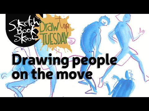 Drawing people on the move