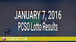 PCSO Lotto Results January 7, 2016 (6/49, 6/42, 6D, Swertres & EZ2)