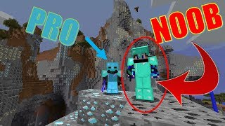 """PRO Membantu NOOB sampai menemukan FULL DIAMOND"" Noob Survival Minecraft Indonesia #85"