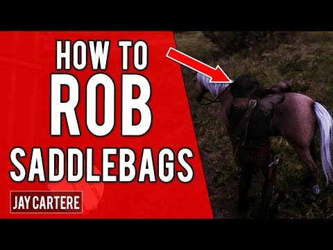 Red Dead Redemption 2 PS4 Tutorial – How To Rob Saddlebags – How To Loot Saddlebags