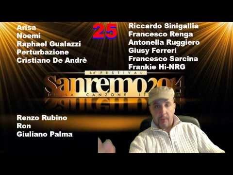 Cantanti Sanremo 2014 : Big in Gara al Festival della Canzone - Lista