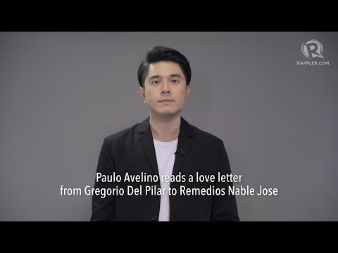 Paulo Avelino reads a love letter from Gregorio Del Pilar to Remedios Nable Jose