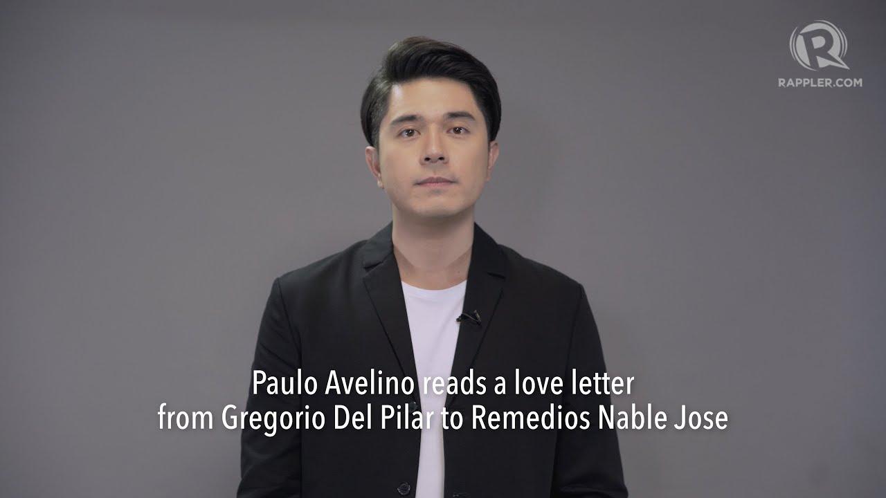 Paulo Avelino reads a love letter from Gregorio Del Pilar ...