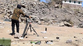 Houthi rebels using artillery against Saudi-led coalition | December 2019 | Yemen
