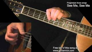 See Me, See Me - the best fingerstyle blues + TAB! Acoustic guitar lesson