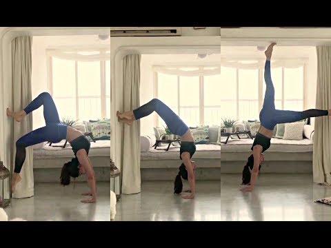 Jacqueline Fernandez Handstand Workout Video Mp3