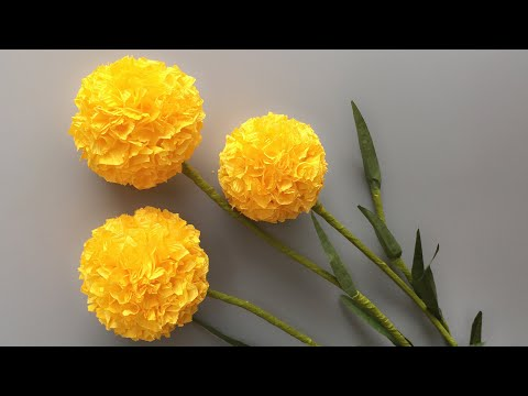 abc-tv- -how-to-make-billy-buttons-paper-flower-from-crepe-paper-#1---craft-tutorial