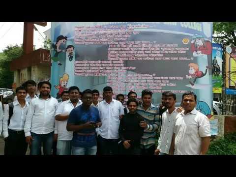 NBT Law College Nashik Students making a new song  Sonu tula mazavar bharosa nahi ka ??