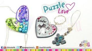 Puzzle Love Polymer Clay Tutorial / Rompecabezas de Arcilla Polimérica Thumbnail