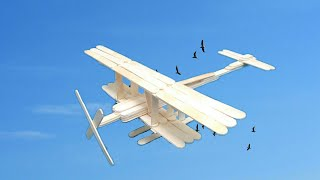 DIY - Ice Cream Stick Plane | How To Make Aeroplane From Popsicle Stick | Ice Cream Stick Craft