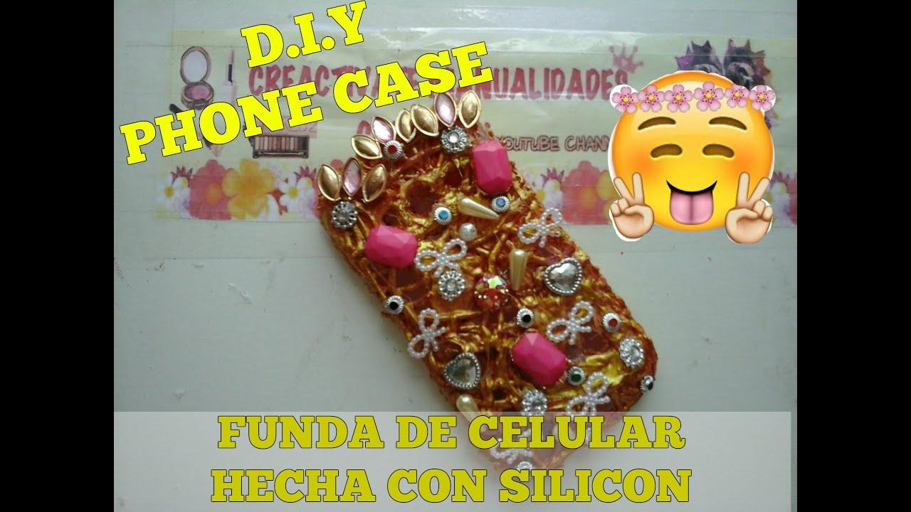 D i y phone case funda para celular hecha de silicon - Como hacer fundas de silicon ...