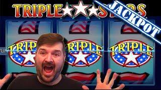 $10,000.00 JACKPOT HAND PAY! ⭐TRIPLE⭐TRIPLE⭐TRIPLE⭐!!! Trİple Stars Slot Machine LOVES SDGuy1234