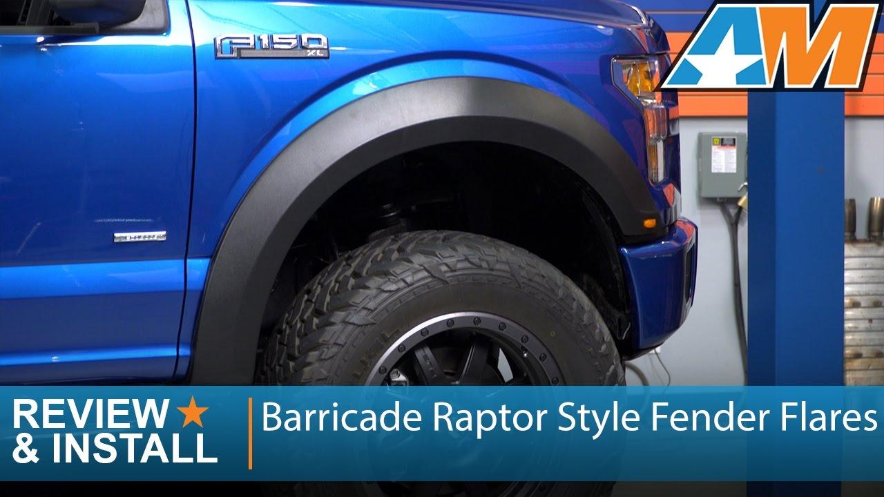 2015-2017 Ford F-150 Barricade Raptor Style Fender Flares ...