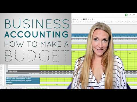 Business Accounting How To Create A Budget *SIMPLE*