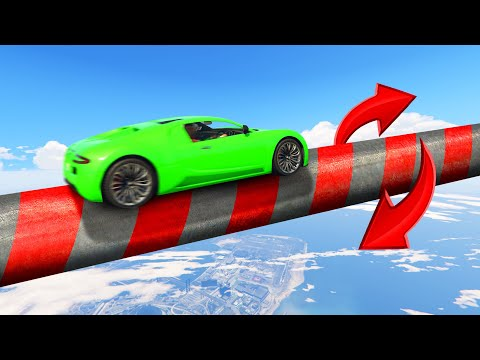 Impossible TWISTER PIPE TIGHTROPE Skillcourse! (GTA 5 Funny Moments)