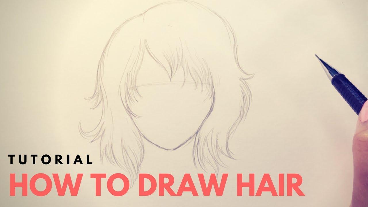 draw manga hair - beginners