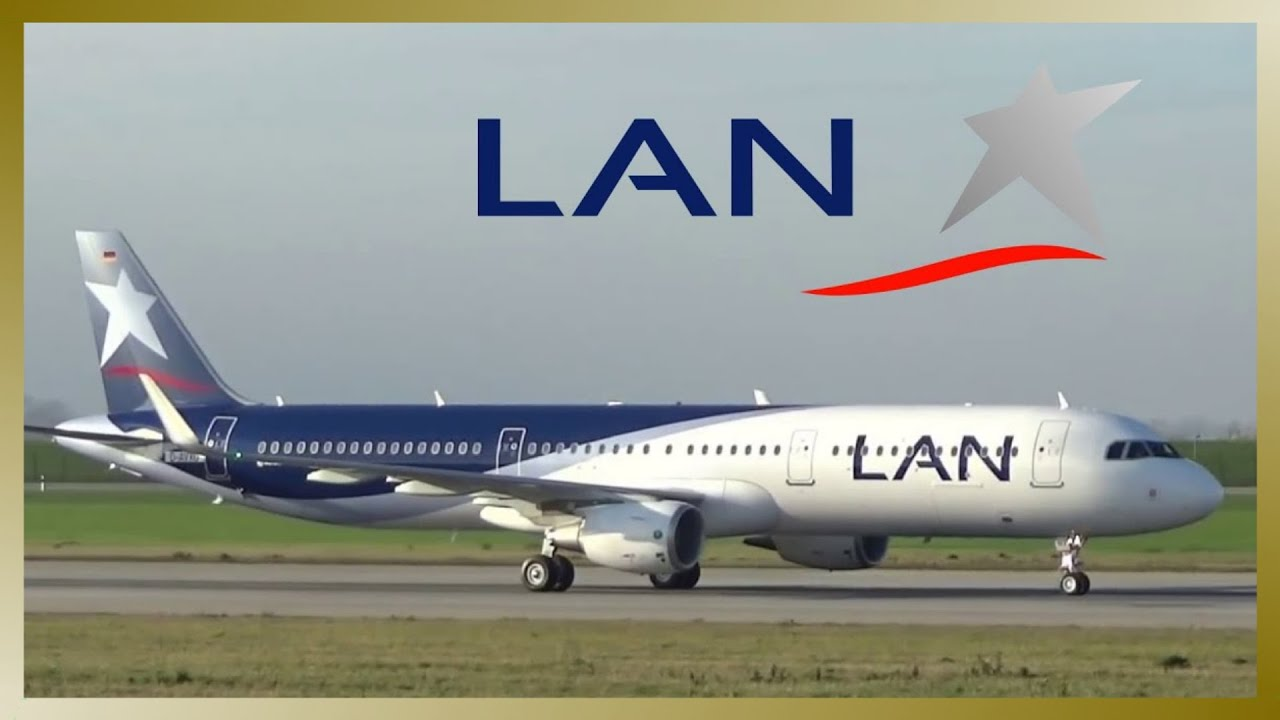 First Flight Lan Airlines Airbus A321 Takeoff And