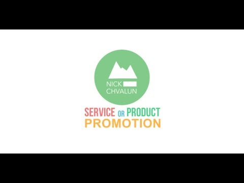 service or product promotion/presentation (after effects template, Presentation templates