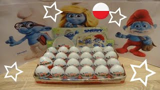 SMURFS: THE LOST VILLAGE 24 Kinder Surprise eggs Unboxing video 2017 (eng Subtitles) thumbnail