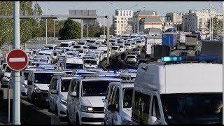 Les ambulanciers bloquent le périphérique parisien (5 novembre 2018, Paris)