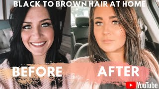 Lifting Black Box Dyed Hair | Black To Brown Hair | Colorfix Color Remover | No Bleach No Damage