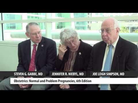 Elsevier authors Dr. Steven Gabbe, Dr. Jennifer Niebyl, and Dr. Joe Leigh Simpson at ACOG 2012