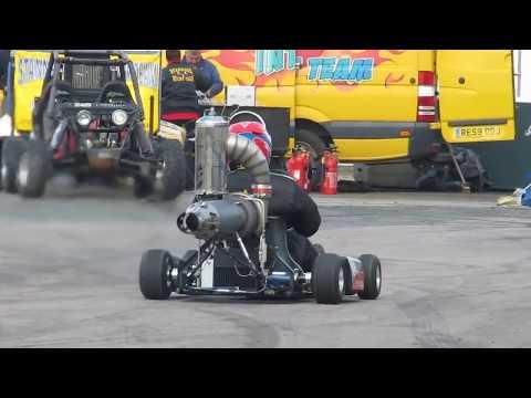 Jet Engine Powered Go Kart, Diy Gas Turbine HX Monster , Santa Pod Raceway