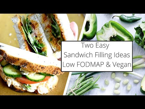 Two Sandwich Filling Ideas For Easy Packed Lunches // Low FODMAP & Vegan
