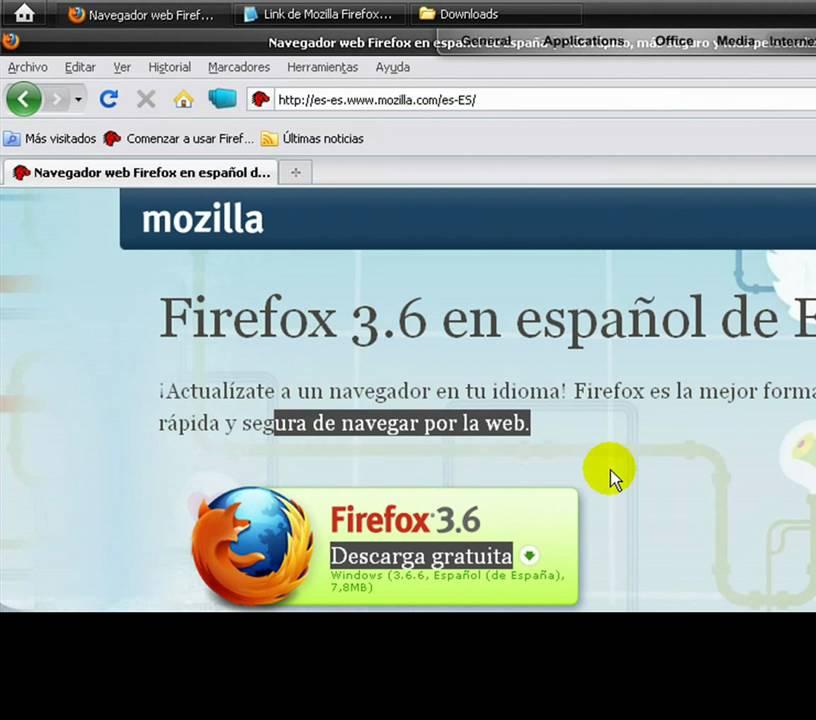 Como Descargar Mozilla Firefox 3.6 Nuevo