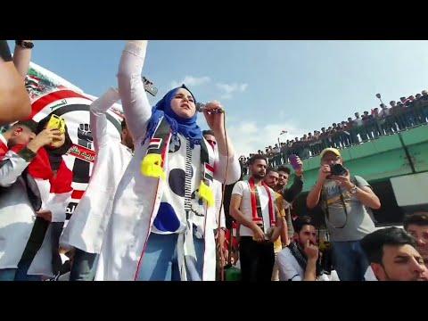 شاهد شجاعه هذي الطالبه في تظاهرات ميسان _ حيله بنت العماره 💪 تظاهرات ثوره 25