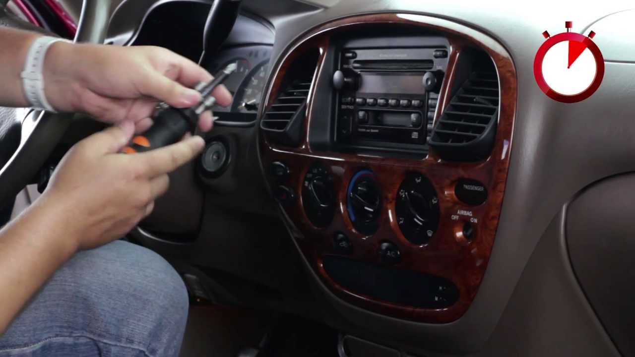 basic installation of an aftermarket stereo into a toyota vehicle [ 1280 x 720 Pixel ]
