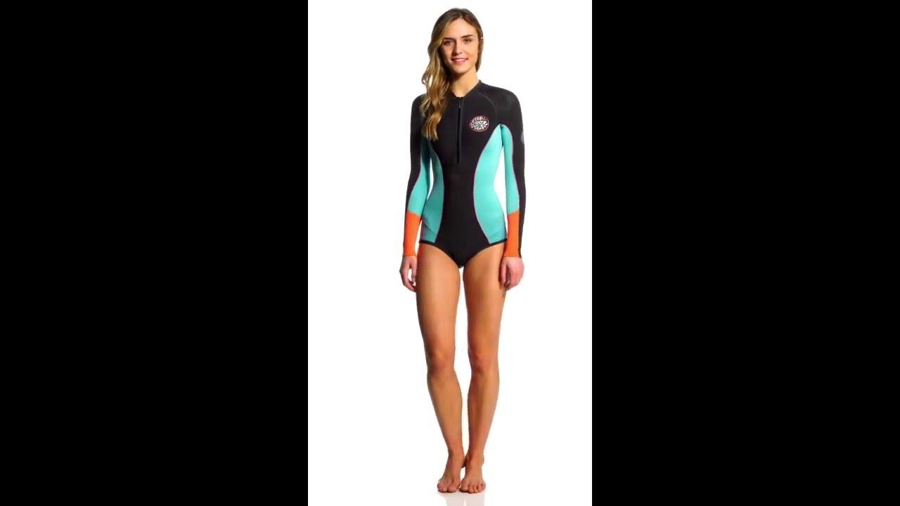 Rip Curl Women s 1mm G-Bomb Long Sleeve Bikini Cut Spring Suit Wetsuit  9f37adcb0