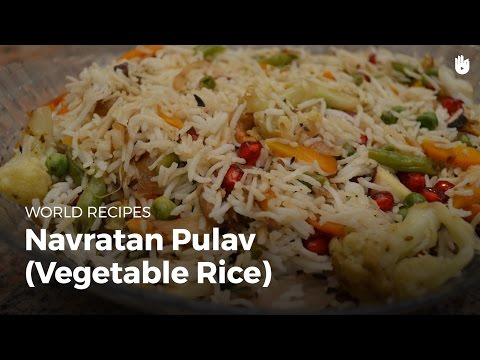 Navratan pulav (vegetable rice) | Indian Food