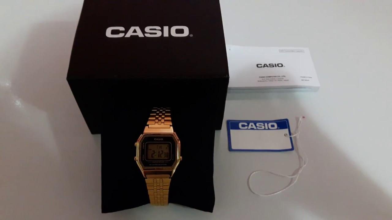 505aeefa52df Relógio Casio Vintage Dourado Feminino LA680WGA1DF